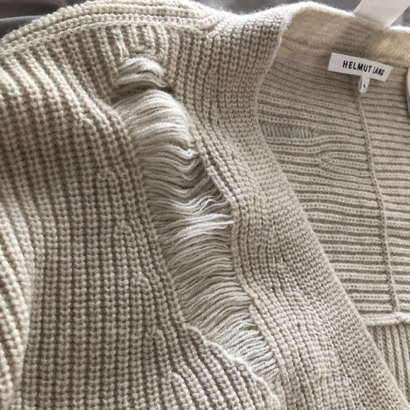 Helmut Lang distressed wool   cashmere sweater 5a774fb08